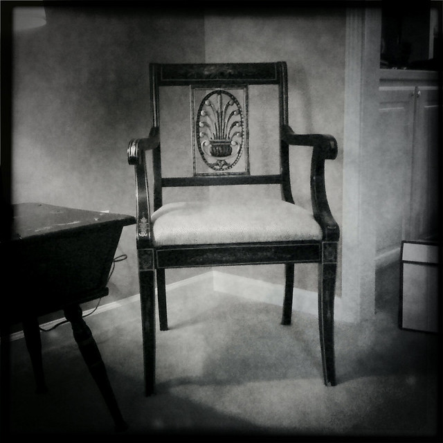 Chair, Pose 2 (Hipstamatic iPhone capture)