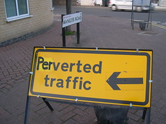 Perverted Traffic (John Steedman) Tags: uk greatbritain england london sign unitedkingdom londres londra londen perverted 日本語 grossbritannien hernehill ロンドン 伦敦 イギリス 英國 grandebretagne se24 wanlessroad イングランド 英格兰 グレートブリテン島 grosbritannien 大不列顛島