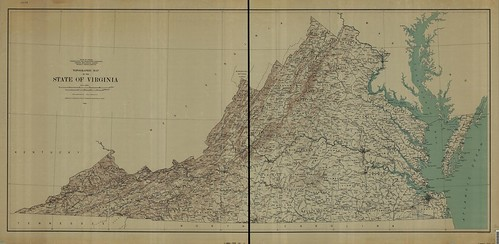 topographic maps of virginia. Topographic Map of the State