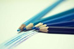 50/365 : Shades of blue (Lisa-Mari) Tags: blue light color macro pencil pencils canon project dark eos rainbow purple bokeh drawing violet indigo coloring 365 crayons crayon catchycolorsblue project365 canonefs60mmf28macrousm 450d
