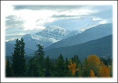Mount Edith Cavell from the Canadian (sjb4photos) Tags: canada alberta fromthetrain jaspernationalpark mountedithcavell canadianrockies thecanadian
