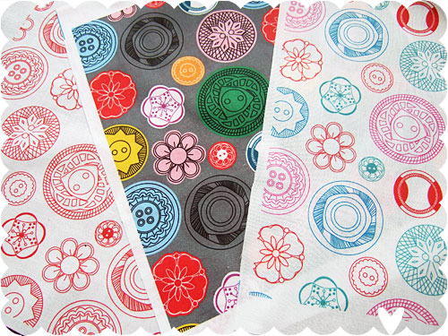 Vintage Buttons fabrics