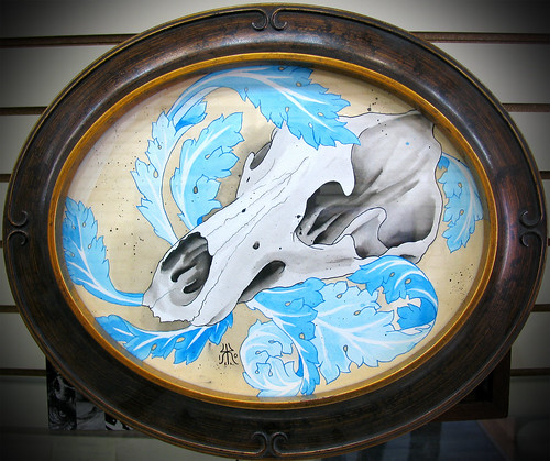 Grizzly bear skull Painted for Mez,