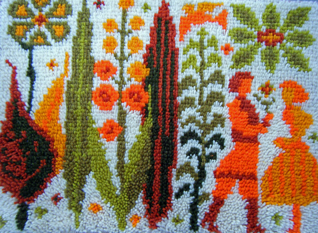 70s latch hook rug