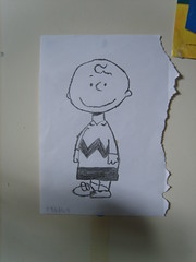 Charlie Brown drawing (Peterpixels) Tags: brown drawing peanuts charlie
