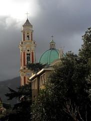 L'ora legale di Mirco :) (fotomie2009) Tags: italy church architecture clouds san riviera italia nuvole liguria belltower chiesa campanile giovanni vado ligure battista ponente vadoligure