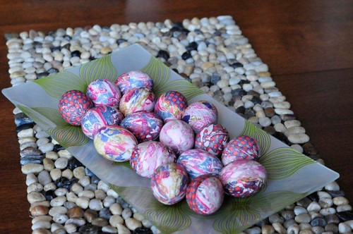 silk tie die easter eggs