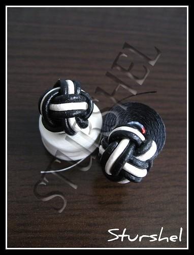 Bolitas Nudo Turco Blanco&Negro