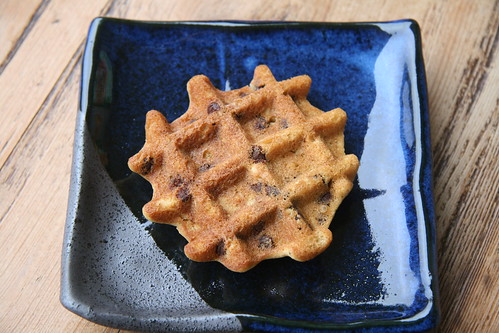 Waffled Chocolate Chip Oatmeal Cookies