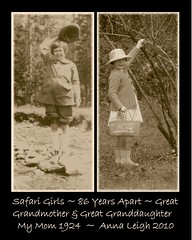 Safari Girls 86 Years Apart ~ Great Grandmother in 1924 and Great Granddaughter in 2010 (Pixel Packing Mama) Tags: bw wow flickrcentralpool flickrwow pixelpackingmama sepiaset dorothydelinaporter 50to99viewspool sepiapool views50pool reallyunlimited wowaddonlypicturescommentedwithawowpool wowiekazowiepool 15favouritespool usaunitedstatesofamericapool worldsfavorite1ormorefaveseachnolimitoffavedphotopool funpictureswithkidspool alookbackwardpool exclamationpointspool reallyunlimitedpool greatcommentedwithgreatpool 5075viewspostupto5perdaypool diptychtriptychgallerypool everythingamericapool diptychstwoisbetterthanonepool easterworldwidepool hatsregrettableandotherwisepool oldphotographspool preciouscommentsunlimitedpool views5175pool everythingamericanphotospool easterovertheyearsset commentedwithwowunlimitedpool watchfor76 wowphotospool americanphotospool favoritedpixfirsthalfof2010set pixuploadedfirsthalfof2010set pixtakeninfirsthalfof2010set picturestakenwithcanonpowershota2000isin2010set obsessivephotography30perdaypool loveittagphotosloveitpool comparingmymomwithmygranddaughter halftakenin1924withavintagecamerahalftakenwithadigitalcamerayesterday funoldnewgreetingcardsandetcpool comparing1924with2010 pricelessonlyaddphotoscommentedwithpricelesspool pixelpackingmama~prayforkyronhorman photosfrom20102020pool easterworldwidegroup oversixmillionaggregateviews over430000photostreamviews