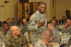 Ward challenges U.S. military mentors to be model professionals for Liberian soldiers - 20100325 (US Army Africa) Tags: for us model general military be soldiers ward liberian mentors defense department challenges professionals of africom usafricom