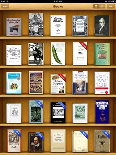 iBook book shelf