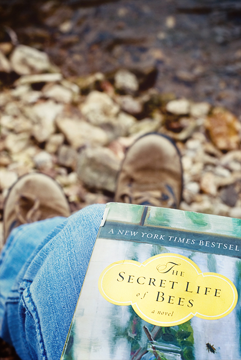 reading at the creek