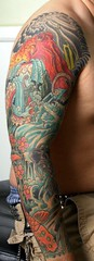 octopus sleeve (incognito tattoo) Tags: japanesestyle fullsleevetattoo octopustattoo jasonschroder