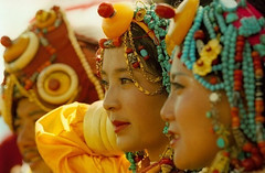 gorgeous girls in ceremonial costume at litang festival, tibet (BetterWorld2010) Tags: tibetans coral festival gold amber necklace beads costume treasure dress jewelry tibet ring celebration bracelet amdo kham sichuan traditionalcostume litang headdress robes yushu 服饰 tibetanwoman 玉树 理塘 藏族 khampa golok lithang tibetangirl tribalcostume tibetanfestival 康巴 tibetanwomen dzibead tribaljewelry tibetanjewelry tibetanfashion 安多 horseracefestival ceromonialcostume 藏族服饰