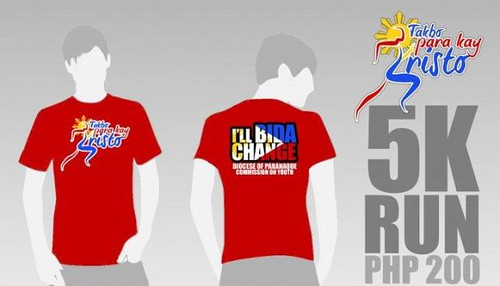 Takbo Para Kay Kristo 2010 - singlet and shirt 5k