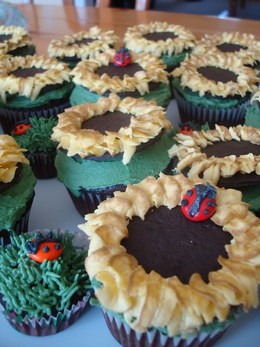 Sarah's Sunflower Birthday Cupcakes