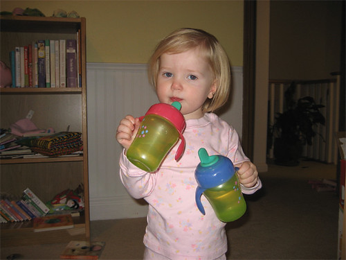 Double-fisting the sippy cups