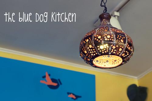 blue dog kitchen