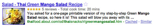 Google Recipes Rich Snippets