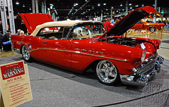 Storm Warning (Chad Horwedel) Tags: red classic car illinois buick convertible rosemont roadmaster stormwarning worldofwheels buickroadmaster 1957buickroadmaster