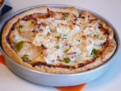 BBQ Chicken Deep Dish Pizza