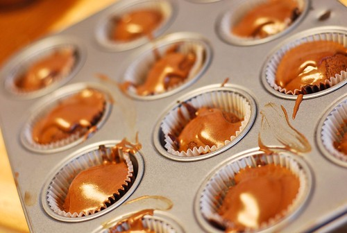 tiny cupcakes with ganache