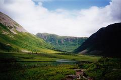 Gros Morne 6 - 2001 (Deep-Fried Goodness) Tags: canada mountains green film 35mm newfoundland unesco 35mmfilm fjords rugged valleys grosmourne