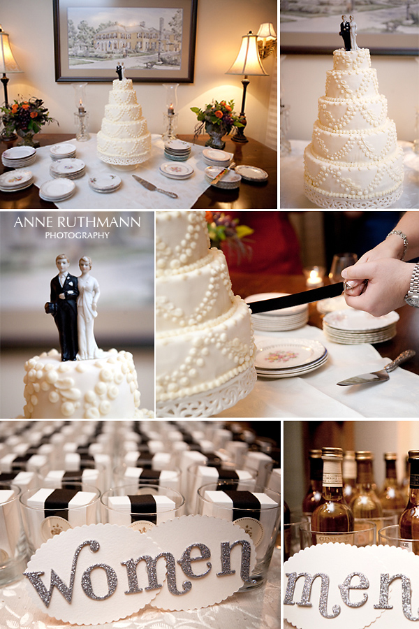 Real Wedding Cake & Favor Detail