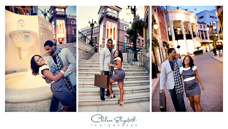 In love on Rodeo drive shopping engagement session