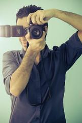 Nas in Blue ! (Nas t) Tags: blue portrait macro self lens nikon flash sb600 tamron 90mm speedlight d60