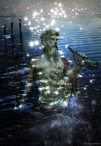 Neptune with dancing water spirits