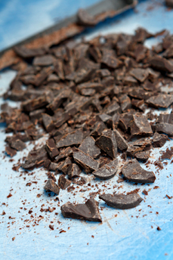 chopped chocolate