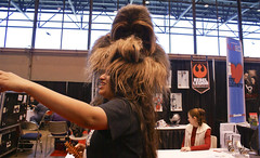 wookie love (shatteredhaven) Tags: chicago actionfigure starwars illinois comic il convention wookie chewbacca comicconvention actionhero mccormickcenter c2e2