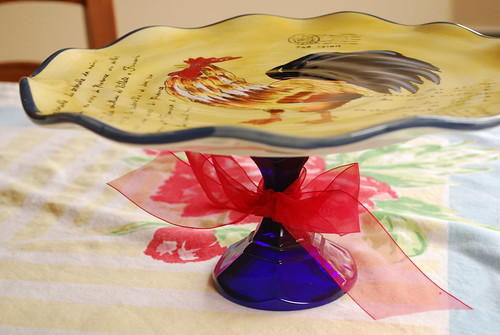 ROOSTER CAKE PLATE