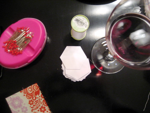 hexagon making + wine