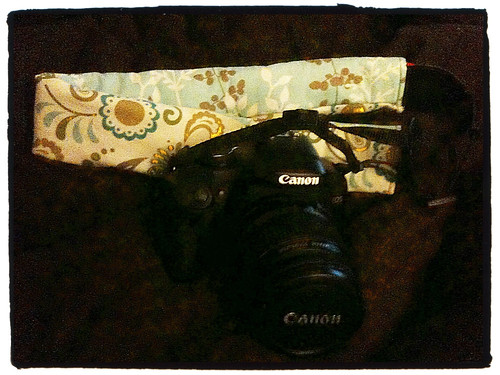 Canon XSi with new strap cover