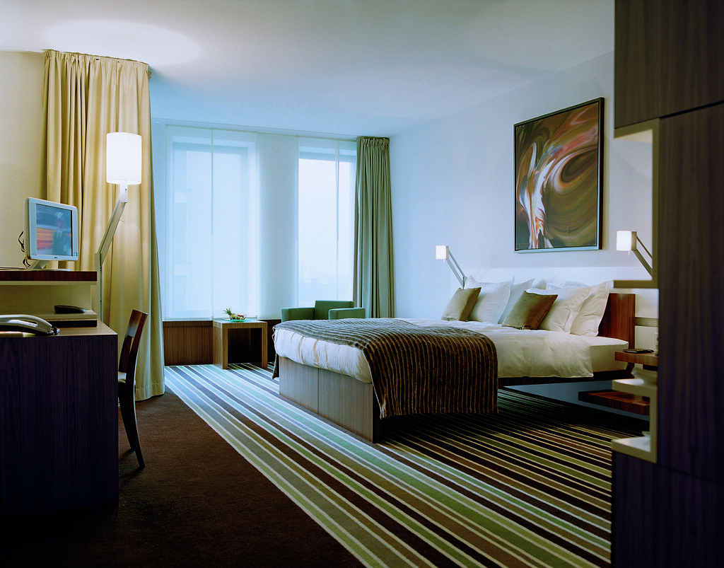 Spacious and comfortable room at the Hotel Concorde Berlin in Germany