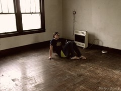 These walls are empty yet they know so much (Samantha Evans Photography) Tags: new wood old house green home shirt skinny tin glasses moving floor empty jeans heater divorce flipflops tray pan walls picnik hardwood ffa