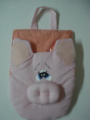Lixinho para carro porquinho (tatiane_zoo) Tags: patchwork porco lixeira lixinhoparacarro