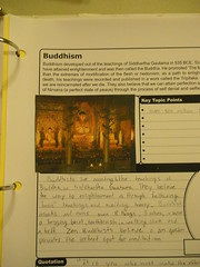 Buddhism Notebook Page