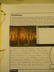 Buddhism Notebook Page