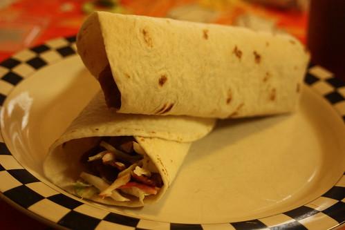 BBQ Seitan Wraps