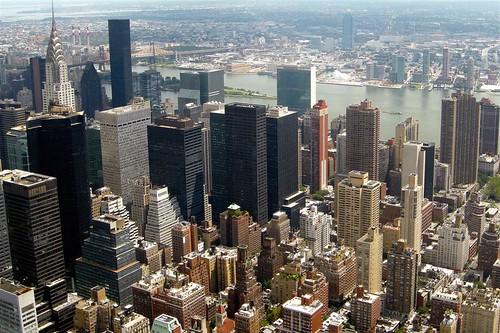 Rascacielos de Nueva York desde el observatorio del edificio Empire State