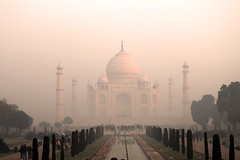 Morning at the Taj Mahal
