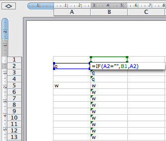 Fill in the blanks... Excel formula