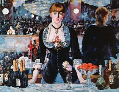 Bar Girl, Edouard Manet