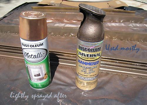 vintage bathroom vanity project-brass to copper