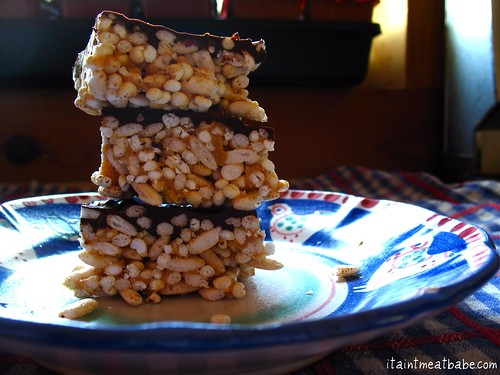 peanut butter chocolate rice treats