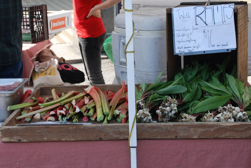 ramps and rhubarb